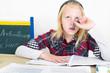 Mädchen im Prüfungsstress