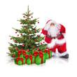 Weihnachtsbaum mit Christbaum und Geschenken
