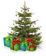 Christbaum und Weihnachtsgeschenke