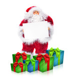 Weihnachtmann und Geschenke