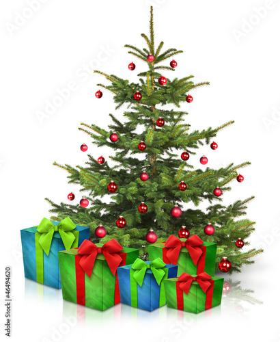 christbaum und weihnachtsgeschenke stockfotos und. Black Bedroom Furniture Sets. Home Design Ideas