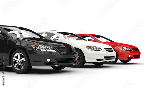 Black White and Red Fast Cars