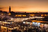 Fototapety Marrakesch, Djemaa el Fna, Marokko