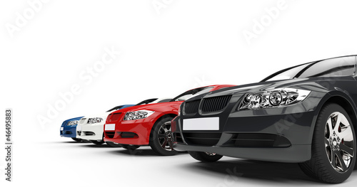 canvas print picture Row Of Cars