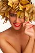 Fashion Woman Makeup. Autumn Style.Autumn girl.