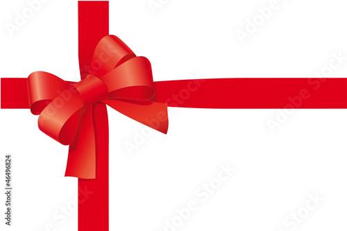 Rote Schleife für Geschenk