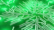 growing circuit board green 3d