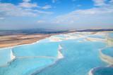Fototapety Ttravertine pools and terraces,  Pamukkale, Turkey