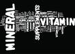 Mineral Vitamin concept