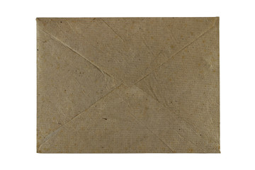 Brown Mulberry paper.Envelope isolated on white background..