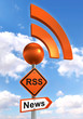 rss road orange sign