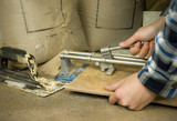 tiler using tile cutter