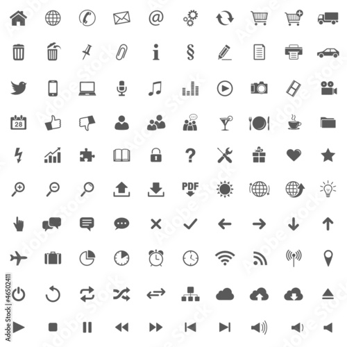 100 Icons // Website Iconset