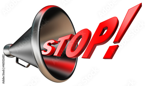 stop red word in bullhorn
