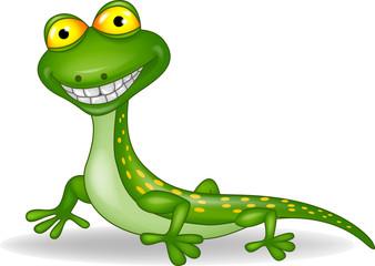 Funny lizard cartoon