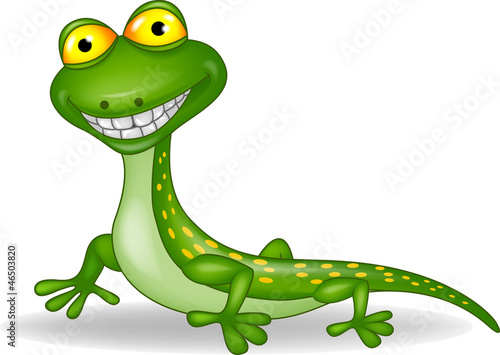Funny lizard cartoon