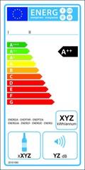 Wine storage appliances new energy rating label.