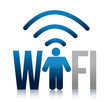 icon wifi illustration design over