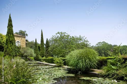 Italie, campagne, jardin, maison, été, vert, végétation