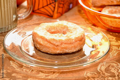 Pumpkin Donut on a Plate