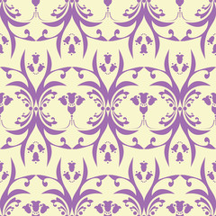 Seamless Damask Pattern - Wallpaper