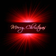merry christmas with red rays