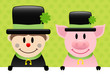 Chimney Sweep & Pig Clover Background