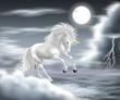 unicorno bianco temporale
