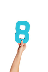 hand holding up the number eight from the bottom