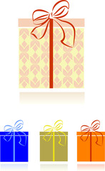 Greeting card - Christmas gift boxes