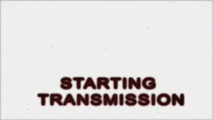 TV Test starting transmission