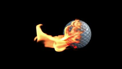 GolfBall on Fire