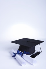Mortar board and certificates