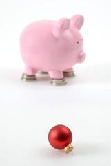 Sparschwein, Weihnachtskugel