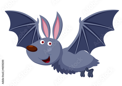 illustration of Cartoon bat Vector