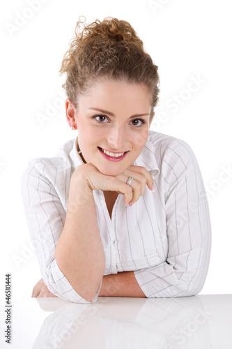Portrait einer jungen Frau - isoliert