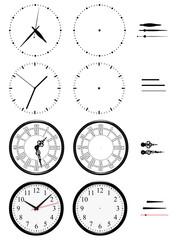 Horloges différents styles