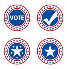 Vote Election Badges