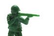 銃を構える玩具の兵隊のアップ