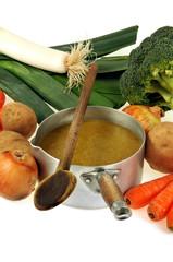 La soupe et ses légumes