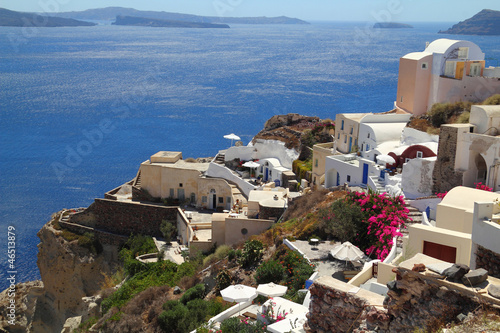 Traditional village of Oia at Santorini