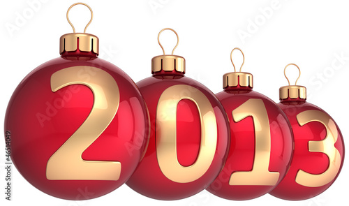 New Year 2013 bauble Merry Christmas balls ornament decoration