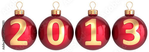 New 2013 Year baubles Christmas balls decoration
