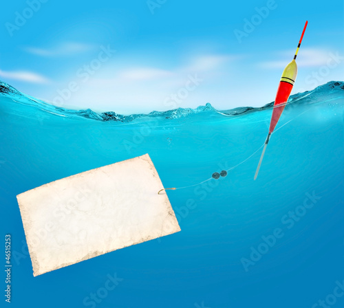 Fishing. Vector illustration.