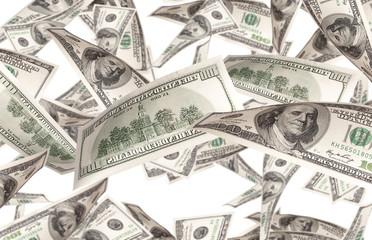 Flying Money - american dollars