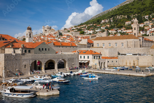Dubrovnik, old town harbor