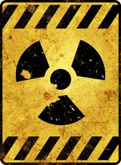 Radioaktivität Schild