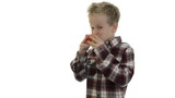 Kid eating apple