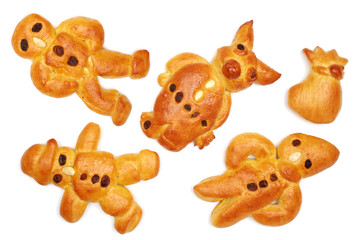 figures made from yeast-risen pastry