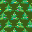 Seamless Fairy Light Adorned Christmas Tree Background